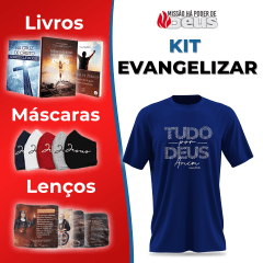 kit 2 - Evangelizar com jogo de 5 Máscaras
