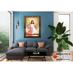 QUADRO MOLDURA LUXO - JESUS MISERICORDIOSO